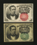 Fractional Currency:Fifth Issue, Fr. 1264 and 1266 10¢ Fifth Issue Notes.... (Total: 2 notes)