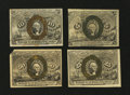 Fractional Currency:Second Issue, Second Issue Denomination Set.... (Total: 4 notes)