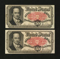 Fractional Currency:Fifth Issue, Two Fr. 1381 50¢ Fifth Issue Notes.... (Total: 2 notes)