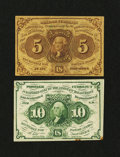 Fractional Currency:First Issue, Two First Issue Notes.... (Total: 2 notes)