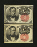 Fractional Currency:Fifth Issue, Two Fr. 1265 10¢ Fifth Issue Notes.... (Total: 2 notes)