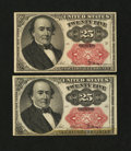 Fractional Currency:Fifth Issue, Two Fr. 1309 25¢ Fifth Issue Notes.... (Total: 2 notes)