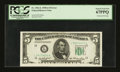 Error Notes:Obstruction Errors, Fr. 1962-L $5 1950A Federal Reserve Note. PCGS Superb Gem New67PPQ.. ...