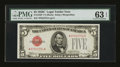 Small Size:Legal Tender Notes, Fr. 1528* $5 1928C Legal Tender Note. PMG Choice Uncirculated 63 EPQ.. ...