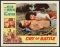 "Movie Posters:War, Cry of Battle (Allied Artists, 1963). Lobby Card Set of 8 (11"" X14""). War.. ... (Total: 8 Items)"