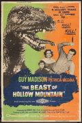 "Movie Posters:Science Fiction, The Beast of Hollow Mountain (United Artists, 1956). Poster (40"" X60""). Science Fiction.. ..."