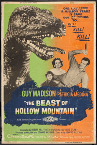 "The Beast of Hollow Mountain (United Artists, 1956). Poster (40"" X 60""). Science Fiction"