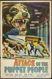 """Attack of the Puppet People (American International, 1958). Poster (40"""" X 60""""). Science Fiction"""
