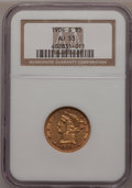 Liberty Half Eagles: , 1904-S $5 AU53 NGC. NGC Census: (14/187). PCGS Population (13/117).Mintage: 97,000. Numismedia Wsl. Price for problem free...