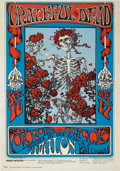 Music Memorabilia:Posters, Grateful Dead Skeleton And Roses Avalon Ballroom ConcertPoster FD-26 (1966)....