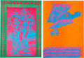 Music Memorabilia:Posters, Victor Moscoso Concert Poster Group (Neon Rose, 1967).... (Total: 2)
