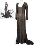 Movie/TV Memorabilia:Costumes, Nolan Miller Designed Black Beaded Gown for Sophia Loren....(Total: 2 )