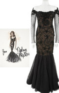 Movie/TV Memorabilia:Costumes, Nolan Miller Designed Black Lace Gown for Joan Collins.... (Total: 2 )