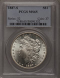 Morgan Dollars, 1887-S $1 MS65 PCGS....