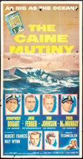 "Movie Posters:War, The Caine Mutiny (Columbia, 1954). Three Sheet (41"" X 81""). War....."