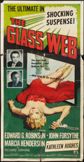"Movie Posters:Crime, The Glass Web (Universal International, 1953). Three Sheet (41"" X 81""). Crime.. ..."