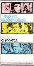 "Movie Posters:Historical Drama, Cleopatra (20th Century Fox, 1963). Three Sheet (41"" X 81"").Historical Drama.. ..."