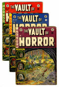 Golden Age (1938-1955):Horror, Vault of Horror Group (EC, 1952-54) Condition: Average GD....(Total: 7 Comic Books)