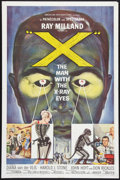 "Movie Posters:Science Fiction, X - The Man With the X-Ray Eyes (American International, 1963). One Sheet (27"" X 41""). Science Fiction.. ..."