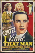 "Movie Posters:Mystery, I Killed That Man (Monogram, 1941). One Sheet (27"" X 41"").Mystery.. ..."