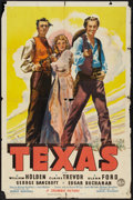 """Movie Posters:Western, Texas (Columbia, 1941). One Sheet (27"""" X 41"""") Style B. Western....."""