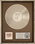 Music Memorabilia:Awards, The Marshall Tucker Band Carolina Dreams RIAA Platinum AlbumAward....