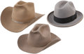 Movie/TV Memorabilia:Costumes, Glenn Ford's Personal Trilby and Cowboy Hats.... (Total: 3 Items)