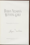 Autographs:Others, Byron Nelson Signed Book (Author's Copy)....