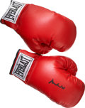 Boxing Collectibles:Autographs, Muhammad Ali Signed Boxing Gloves....