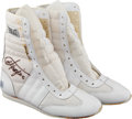 Boxing Collectibles:Autographs, Joe Frazier Signed Boxing Shoes....