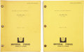Movie/TV Memorabilia:Documents, Billy Wilder The Front Page Scripts.... (Total: 2 Items)