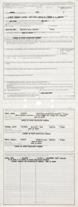 Music Memorabilia:Documents, Rolling Stones Unsigned Work Agreement for Their 1965 Appearance onShindig....