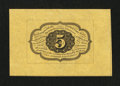 Fractional Currency:First Issue, Fr. 1231SP 5¢ First Issue Wide Margin Back Choice About New....