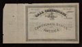 Confederate Notes:Group Lots, Ball 355 Cr. 159 No Denomination 1864 Four Per Cent CallCertificate. Fine.. ...