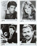 Movie/TV Memorabilia:Autographs and Signed Items, Cheers Cast-Signed Head Shots.... (Total: 4 Items)