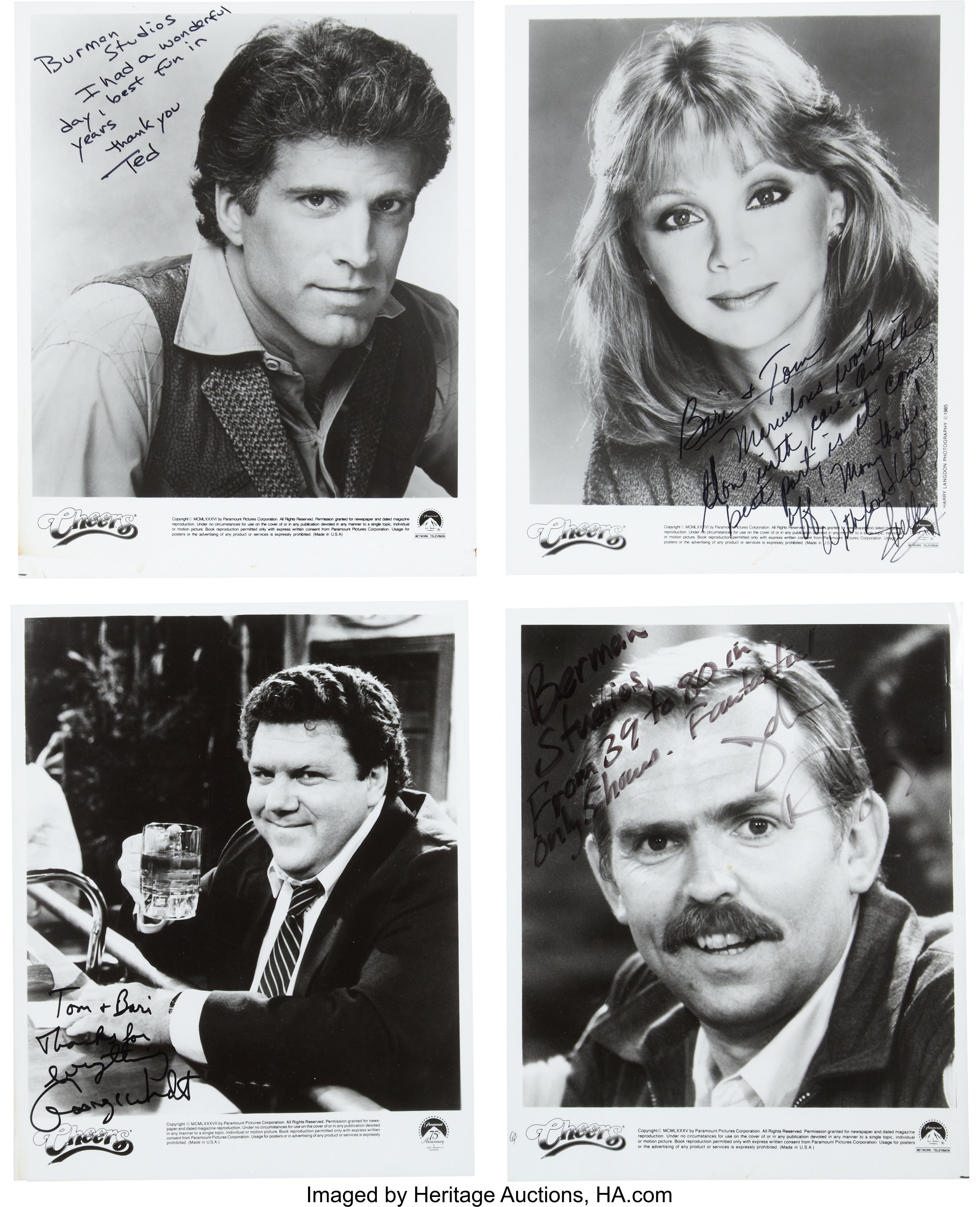 CHEERS Cast Signed 8x10 Autographed Photo 5 Signatures Reprint