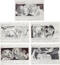 Movie/TV Memorabilia:Original Art, Supergirl Storyboards.... (Total: 5 Items)