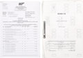 Movie/TV Memorabilia:Documents, James Bond Die Another Day Numbered Script with Call Sheets.... (Total: 2 Items)