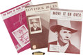 Music Memorabilia:Memorabilia, Hank Williams' Pocket Knife with Sheet Music.... (Total: 5 Items)
