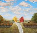 Mainstream Illustration, MARK HESS (American, 20th Century). The War of the Roses, Bensonand Hedges ad illustration, c. 1990. Oil on canvas. 14 ...