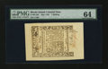 Colonial Notes:Rhode Island, Rhode Island May 1786 1s PMG Choice Uncirculated 64....
