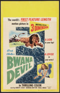 "Movie Posters:Adventure, Bwana Devil (United Artists, 1953). Window Card (14"" X 22"").Adventure.. ..."