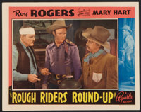 """Rough Riders Round-up Lot (Republic, 1939). Lobby Cards (2) (11"""" X 14""""). Western. ... (Total: 2 Items)"""