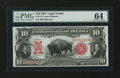 Large Size:Legal Tender Notes, Fr. 114 $10 1901 Legal Tender PMG Choice Uncirculated 64....