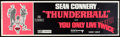 """Movie Posters:James Bond, Thunderball/You Only Live Twice Combo (United Artists, R-1971). Banner (24"""" X 82""""). James Bond.. ..."""