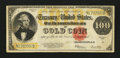 Large Size:Gold Certificates, Fr. 1215 $100 1922 Gold Certificate Fine+....