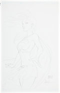 Original Comic Art:Sketches, Michael Turner Supergirl Sketch Original Art (undated)....