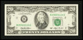 Error Notes:Miscellaneous Errors, Fr. 2079-B $20 1993 Federal Reserve Note. Extremely Fine.. ...