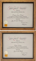 Music Memorabilia:Awards, Hoyt Axton and Lady Jane Music's Broadcasting AchievementCertificates.... (Total: 2 Items)