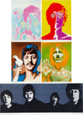 Music Memorabilia:Posters, Beatles by Richard Avedon Look Magazine Poster Group(1967).... (Total: 5 Items)